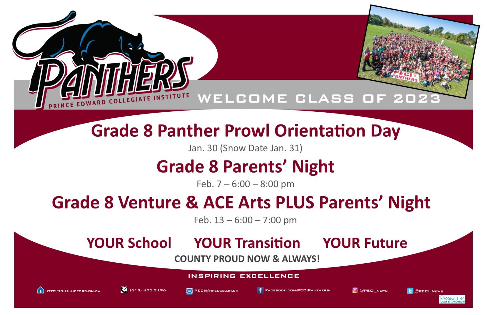 Grade 8 Information Sessions
